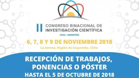 Extienden el plazo para presentar proyectos científicos en el marco de un congreso binacional