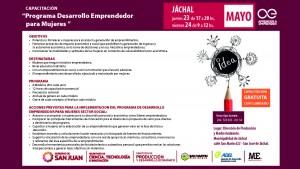 Jáchal: capacitarán a mujeres en desarrollo emprendedor