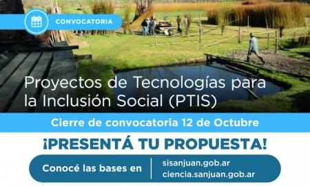 Convocatoria para la presentación de Proyectos de Tecnología para la Inclusión Social 2018