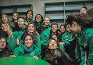 C.A. San Martín inauguró obras para promover el fútbol femenino y apuesta a un polideportivo