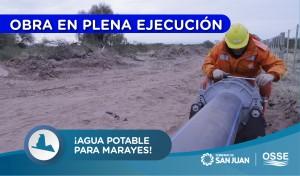 Está en marcha la obra de agua potable para La Planta - Marayes
