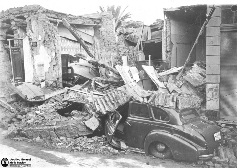 Mirá las mejores fotos de la muestra del terremoto de 1944