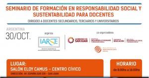 San Juan será sede del Seminario de Formación en Responsabilidad Social y Sustentabilidad
