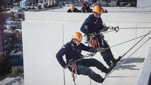 Simulacro de rescate en altura