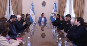 Uñac recibió a dirigentes gremiales de CTA