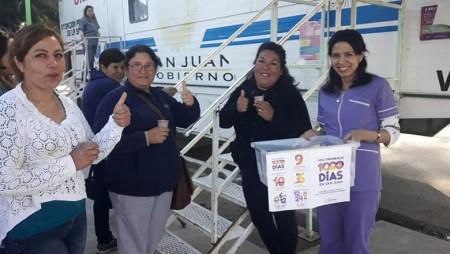 Niquivil y Villa Mercedes aprovecharon los trailers sanitarios