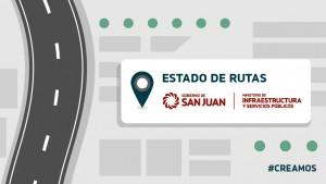 Estado de rutas provinciales 11/12-8hs.