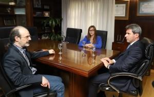 Uñac recibió a reconocido especialista en innovación y gestión de la tecnología