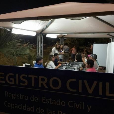 Registro Civil ofreció sus servicios en la Fiesta folclórica en Médano de Oro