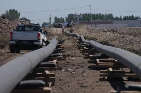 Redes de Gas: Avances en las obras de Pocito