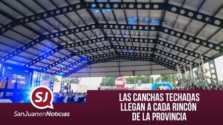 Las canchas techadas llegan a cada rincón de la provincia | #SanJuanEnNoticias