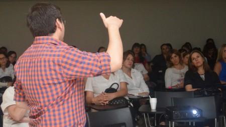 Los profesionales en Nutrición se capacitaron sobre pacientes con VIH. Foto: Facundo Quiroga