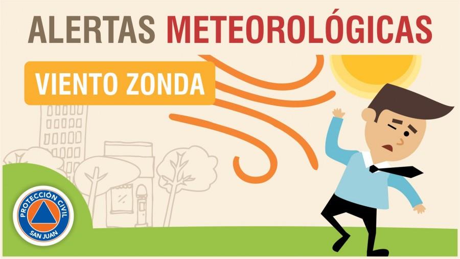 Alerta Meteorológica Nº 40: probabilidad de viento Zonda