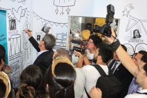 Las paredes del 'Círculo de la Vida' se llenaron de mensajes de esperanza