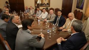 """Uñac, en la reunión de Gabinete: """"Marcelo, fue un honor trabajar con vos"""""""