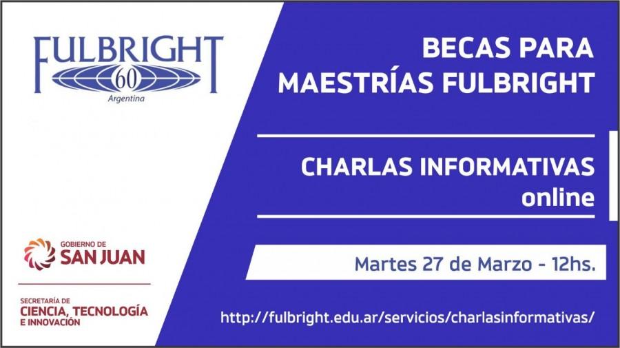 Brindarán charlas informativas on line a interesados en las becas para Maestrías Fullbright