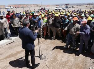 Circuito San Juan Villicum: Uñac agradeció a los obreros en el acto de finalización de obras