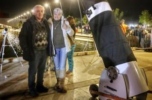 Un fanático de la astronomía: viajó desde Tucumán hacia Bella Vista para disfrutar el eclipse