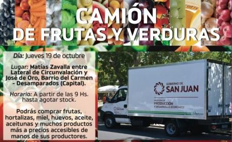 """El """"Camión de Frutas y Verduras"""" llega al Barrio del Carmen"""