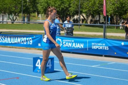 Florencia Sánchez, en la previa de una carrera.