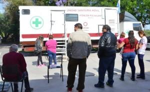 Valle Fértil recibió a las Unidades Sanitarias Móviles durante una semana. Fotos: Facundo Quiroga