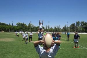 Partido de rugby inclusivo en El Palomar.