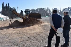 Se reciclará el 70% del material para el armado de la cancha de Copa Davis