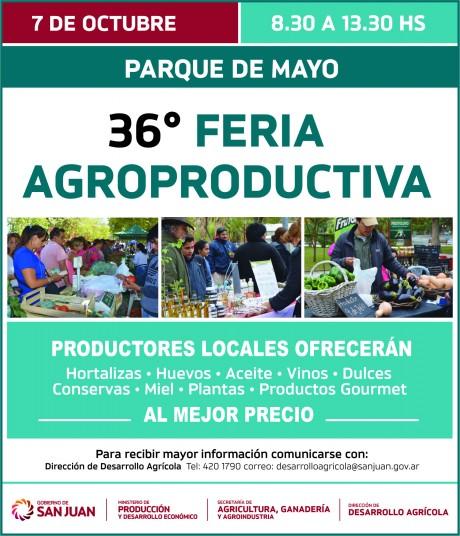 Este sábado hay Feria Agroproductiva en el Parque de Mayo