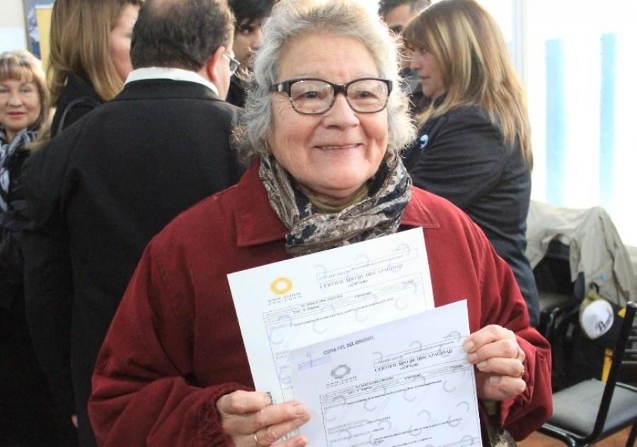 Vecinos de Chimbas recibieron su Certificado Único de Discapacidad