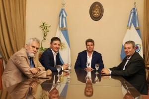 Sergio Uñac recibió a los rectores de las universidades nacionales de San Juan y La Rioja