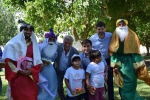 Colonias: en Rawson los reyes coparon la atención de los niños