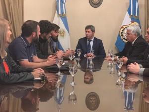 Sergio Uñac recibió a empresarios cordobeses que se radicarán en San Juan