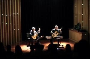 El dúo Dos Américas se presentó en el Centro Ambiental Anchipurac