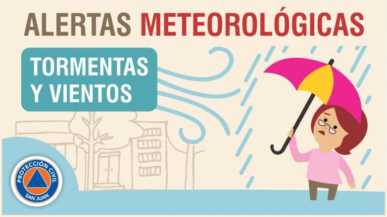 Alerta meteorológica Nº 86 - Viento sur y tormentas