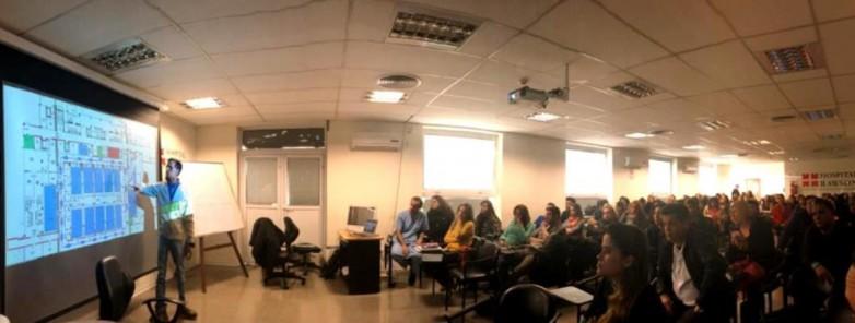 Positiva práctica de preparación de simulacro en el Hospital Rawson