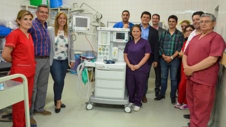 Cinco hospitales departamentales sumaron modernas mesas de anestesia