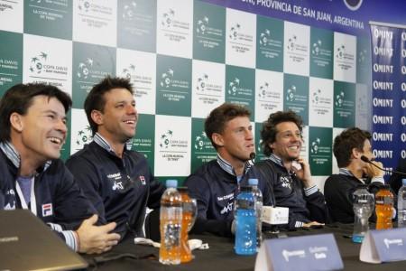 Argentina y Colombia recibieron a la prensa en el Aldo Cantoni