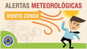 Alerta meteorológica Nº 27/19 - Viento Zonda