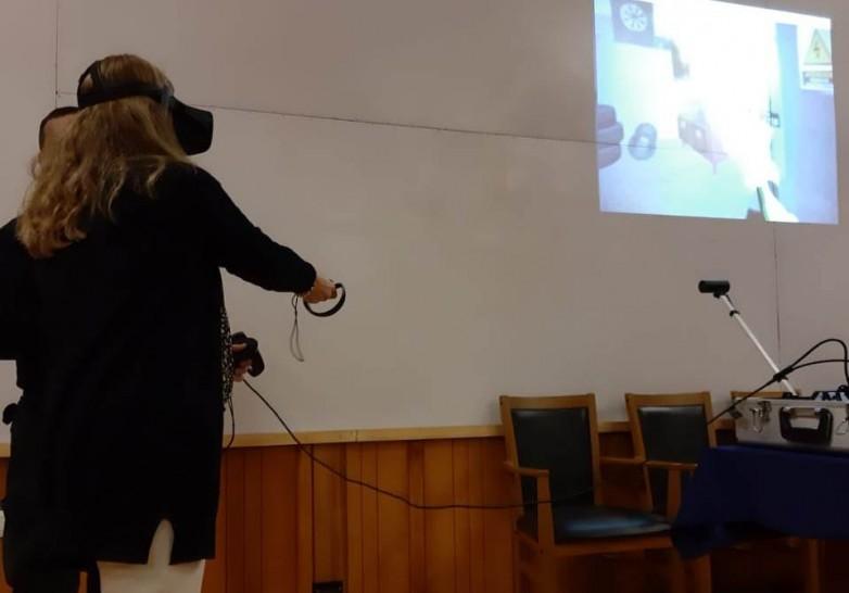 Aprendieron a utilizar extintores mediante realidad virtual