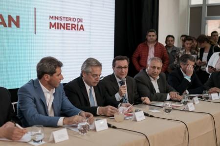 Fernández se interiorizó sobre la actualidad del sector minero y compartió su visión sobre la actividad