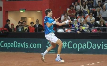 Copa Davis: de menor a mayor, Guido Pella le dio el segundo punto a Argentina