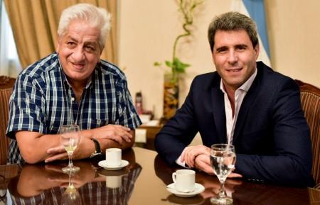 El gobernador recibió la visita de Julio Piumato