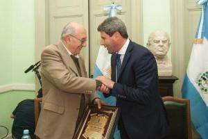 Sergio Uñac fue nombrado Presidente Honorario del Instituto de Pensamiento Nacional Pablo Ramella