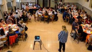 """Cupo completo para los profesionales de Salud Pública en la capacitación sobre la """"Ley Micaela"""". Fotos: Facundo Quiroga"""