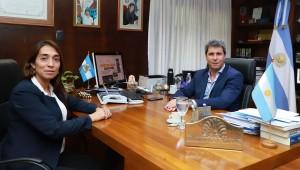 Sergio Uñac se entrevistó con la intendente electa de Caucete