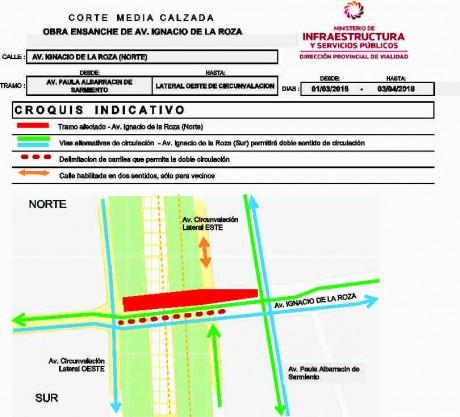Avenida Central: corte de media calzada desde el 1 de marzo