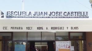 Obras de refacción y construcción en una escuela de La Bebida