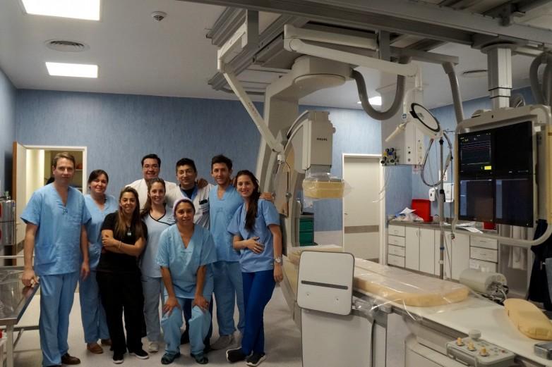 Realizaron la primera angioplastía coronaria con stent en el Hospital Rawson