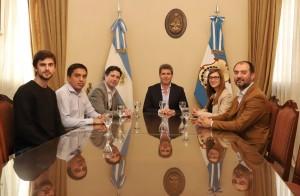 Sergio Uñac recibió al dirigente Francisco Cafiero