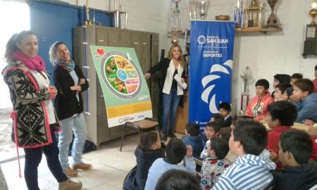 Las visitas nutricionales de la Secretaría de Deportes culminan hoy en Albardón